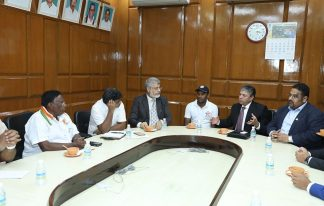 Canadian Delegation's meeting with CM of Pondicherry Shri V. Narayanasamy in India